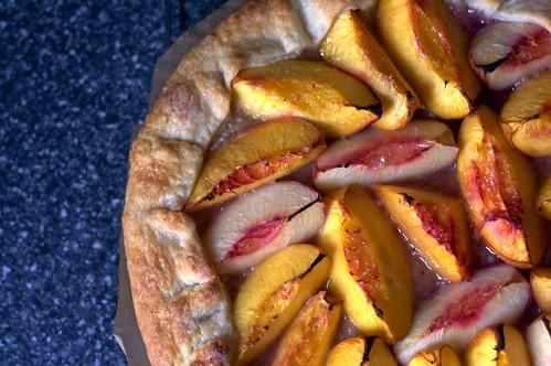 nectarine almond tart
