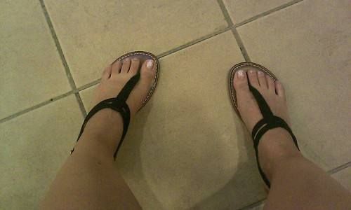 got new flip flops to take to the Phils