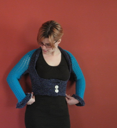 Crochet Shrug 1, front view (3)