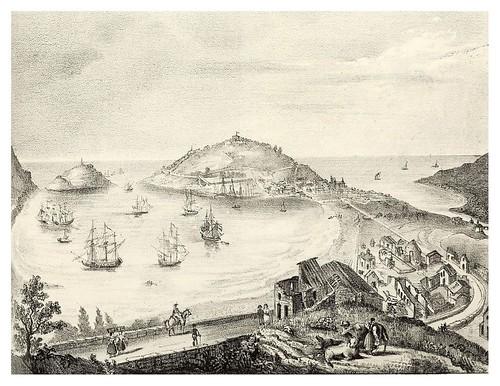 012-Vista del puerto de S. Sebastián 1843- Copyright 2009 álbum SIGLO XIX. Diputación Foral de Gipuzkoa