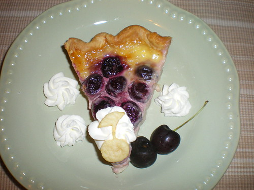 Cherry Custard Pie