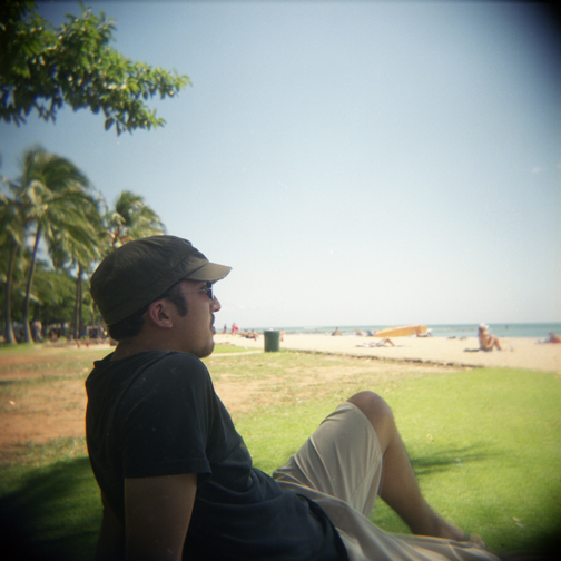 holga in hawaii. 2009.