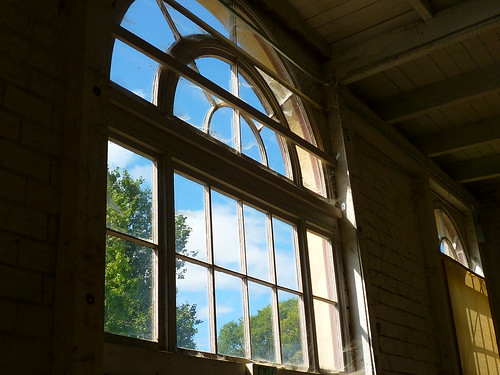 poultry barn window