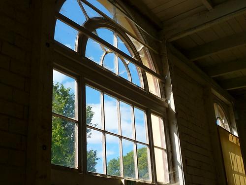 poultry barn window