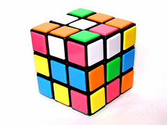 1/365 - Love is like a Rubix Cube... (JemmaJusticePhotography.) Tags: pink blue orange white colour green art love yellow contrast photography one 1 three justice five hundred finepix cube fujifilm 365 sixty jemma rubix project365 sooc jemmysaur jemmaammej