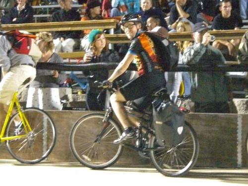 Montague DX Crossover folding bike at the Velodrome!