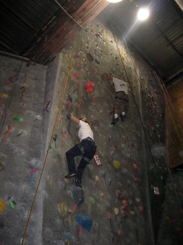Radley rock climbing