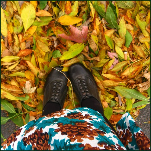 feet and leaves