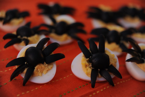 Freaky Frugal Halloween Treats: Spider Topped Deviled Eggs