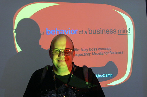 Me@Mozcamp2009. Author: Patrick Finch