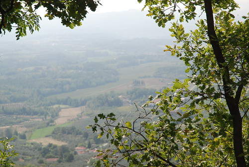 View from a hill in Tuscany