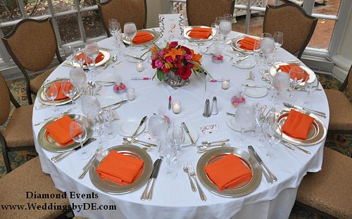 Orange Table Setting at the Fairmont