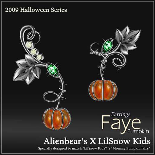 Faye Pumpkin earrings