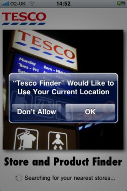Tesco Store Finder app