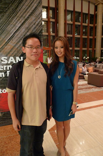 "With Jamie Chung (""Dragonball Evolution"")"