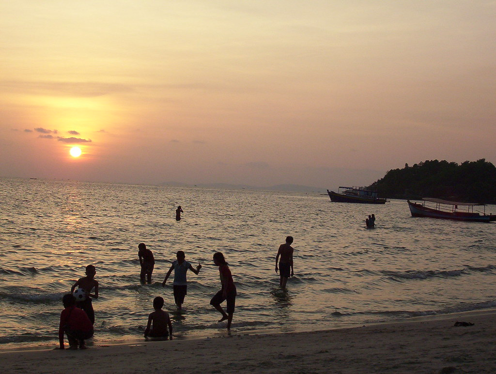 Sunset at Ochheuteal Beach, Sihanoukville