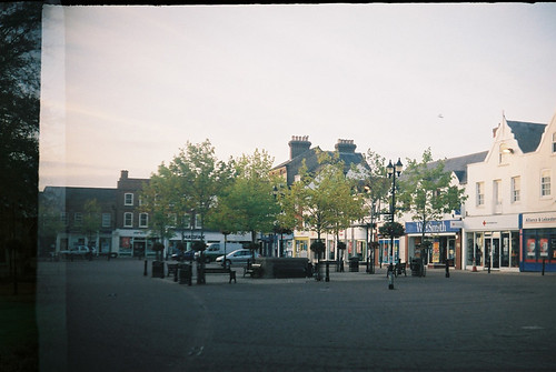 Wisbech market place captured on vintage halina super 35x