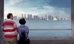 Meditation of Doha City (khalid almasoud) Tags: city trip sea buildings flickr photographer estrellas meditation 2009 khalid doha qatar      photographyrocks almasoud flickraward