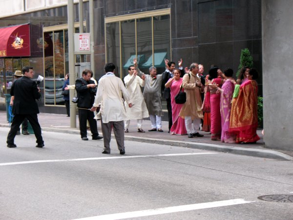 downtown wedding