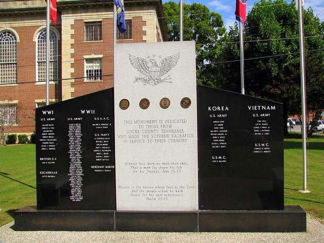 Cocke County, TN Veterans Memorial