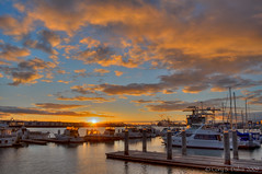HDR- The Bay From Jack London Square (Cory Dalva) Tags: sunset urban london water clouds square jack bay boat hdr