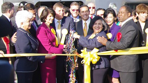 Federal, state, and local officials cut the ribbon on Union Station.