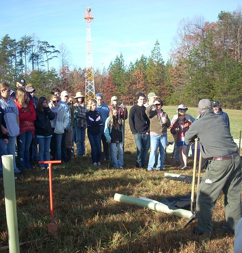 Tree planting at Charlottesville Albemarle Airport