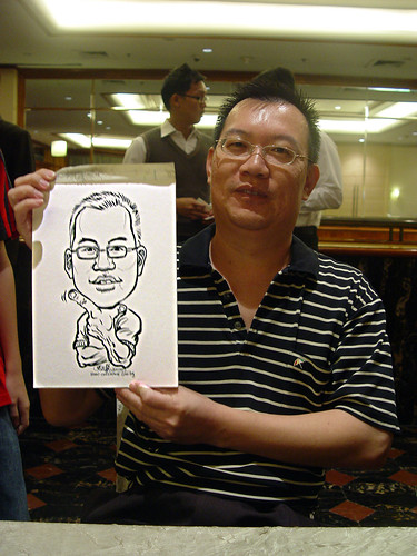 Caricature live sketching for wedding dinner 221109 - 5