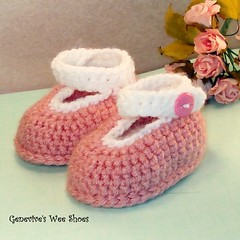 Baby Booties (Genevive_Too) Tags: baby socks children infant shoes handmade crafts crochet footware newborn easy etsy genevive slippers booties babybooties loafers artfire crochetpattern crochetpatterns