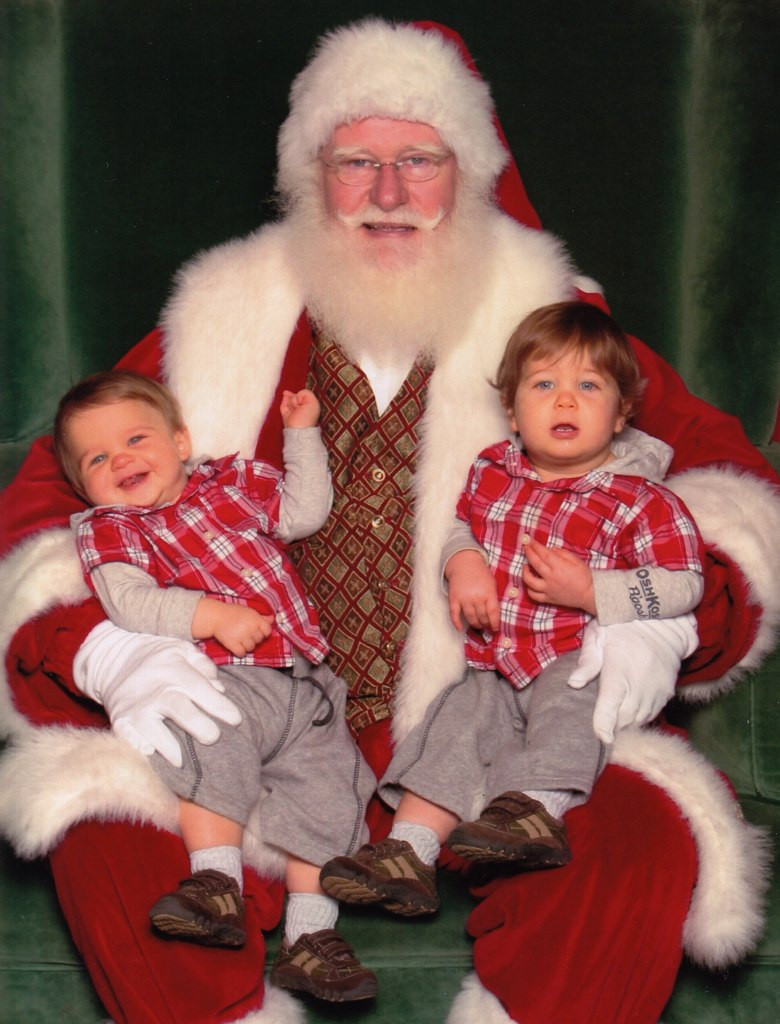 The boys with Santa