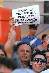 Nano fedina penale (demo-crazy) Tags: nano berlusconi vaffanculo psiconano