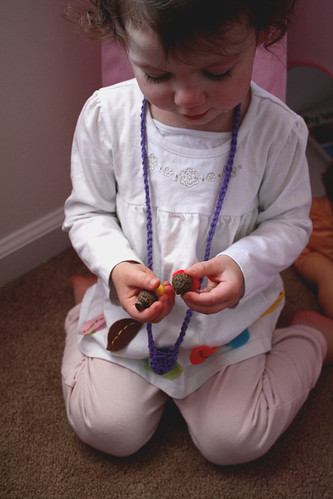 Crocheted Acorn Holder Necklace