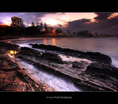 Snapper Rocks ([Jezza]) Tags: sunset sea water rocks dusk australia queensland hdr coolangatta tup goldcoast snapperrocks rainbowbay theunforgettablepictures