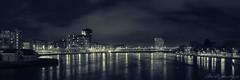 Limerick: Riverside City (Neville Gawley) Tags: city bridge panorama club night river hotel boat riverside shannon limerick clarion splittone hugin riverpoint
