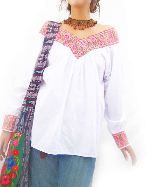 Embroidered Mexican Blouses Wholesale 110