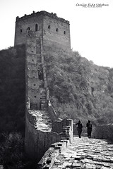 Great Wall B&W (Cecilie Uglehus) Tags: china blackandwhite bw tourism nature wall photoshop canon walking construction beijing thegreatwall lightroom studenttrip 450d denkinesiskemur cecilieeideuglehus