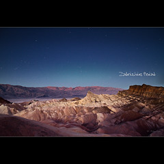 Zabriskie Point just before sunrise, Death Valley National Park, California (Dominique Palombieri) Tags: california usa mountains night sunrise stars flickr fav20 orion deathvalley dominique zabriskiepoint fav30 2009 3200iso 17mm fav10 canoneos7d lensefs1755mmf28isusm palombieri 300secatf56