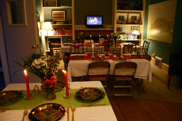 The Dining Room, Set for Feasting