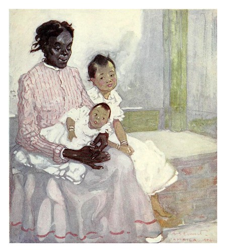 016-Niñera negra con un niña china en Jamaica-The West Indies 1905- Ilustrations Archibald Stevenson Forrest