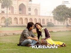 [Poster for Kurbaan with Kurbaan, Rensil D'Silva, Saif Ali Khan, Kareena Kapoor, Vivek Oberoi]