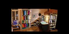 panorama paper origami library room zimmer books papier bücher bücherei equirectangular papierfalten