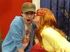 Firestar kissing Seth Green! (amber-the-stylist) Tags: comics jones costume women cosplay spiderman xmen superhero marvel comiccon angelica mutants firestar javits nycc amazingfriends misslion mslion
