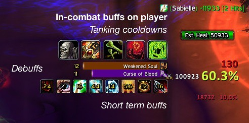 weakauras how to show time on consercration buff