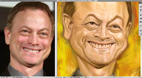 digital caricature of Gary Sinise - 3