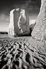 Botany Bay III (Richard Reader (luciferscage)) Tags: sea bw seascape beach water monochrome june landscape chalk kent sand cliffs stack botanybay margate week24 1406 2011 nikond700 richardreader 522011 522011week24 1635mmf4gvred