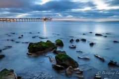 Rocks at La Jolla shore (binzhongli) Tags: longexposure lajolla shore lajollashores rock scrippspier cloud bluehour sunset seascape landscape