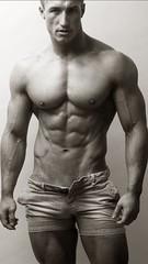 RYAN (NY10014) Tags: dreamy beach lean gym package hung bulging bulge biceps arms stud man shortshorts hotpants shorts nips blond abs pump muscle hard smooth dude hot sexy ryan