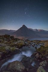 S T A R G A T E (elganjones1) Tags: landscape snowdonia eryri night sky tryfan mountain waterfall river flow orion wales winter ngc