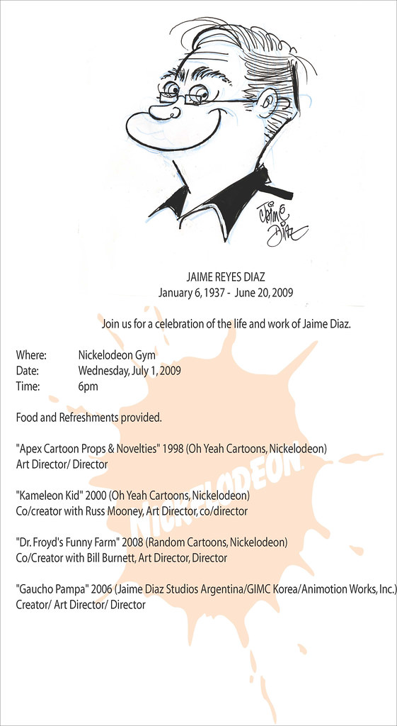Jaime Diaz Screening flyer