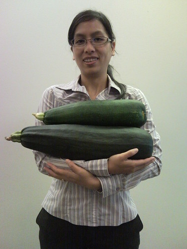 Even BIGGER zucchini!